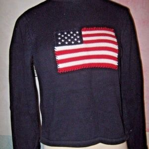 Red White Blue American Flag Patriotic Sweater M